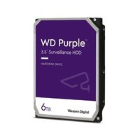 Hard Disk Drive Western Digital PURPLE 3.5'' HDD 6TB 5640RPM SATA 6Gb/s 128MB | WD62PURZ