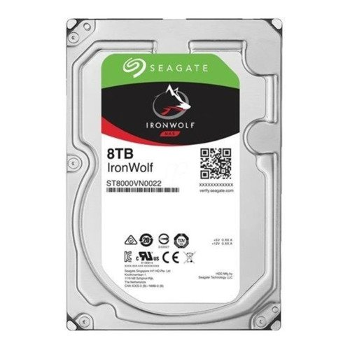 Hard Disk Drive Seagate IronWolf 3.5'' HDD 8TB 7200RPM SATA 6Gb/s 256MB | ST8000VN0022