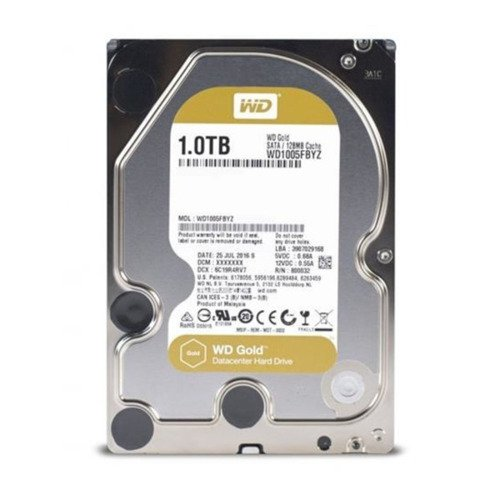 Hard Disk Drive Western Digital GOLD 3.5'' HDD 1TB 7200RPM SATA 6Gb/s 128MB | WD1005FBYZ